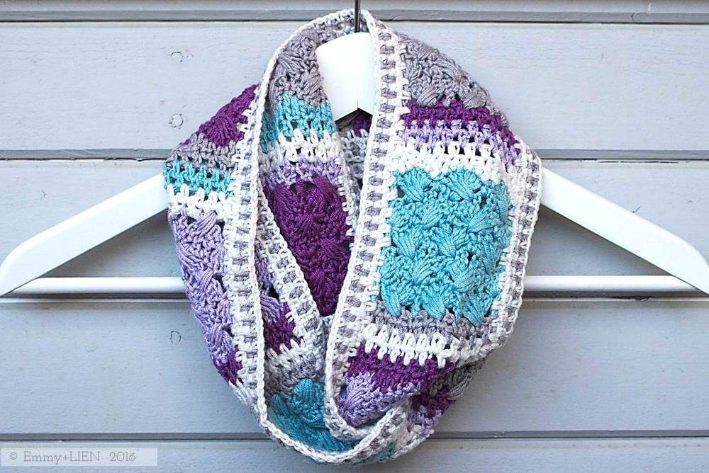 The Lavender Skies Scarf | a 3-in-1 crochet pattern by Eline Alcocer