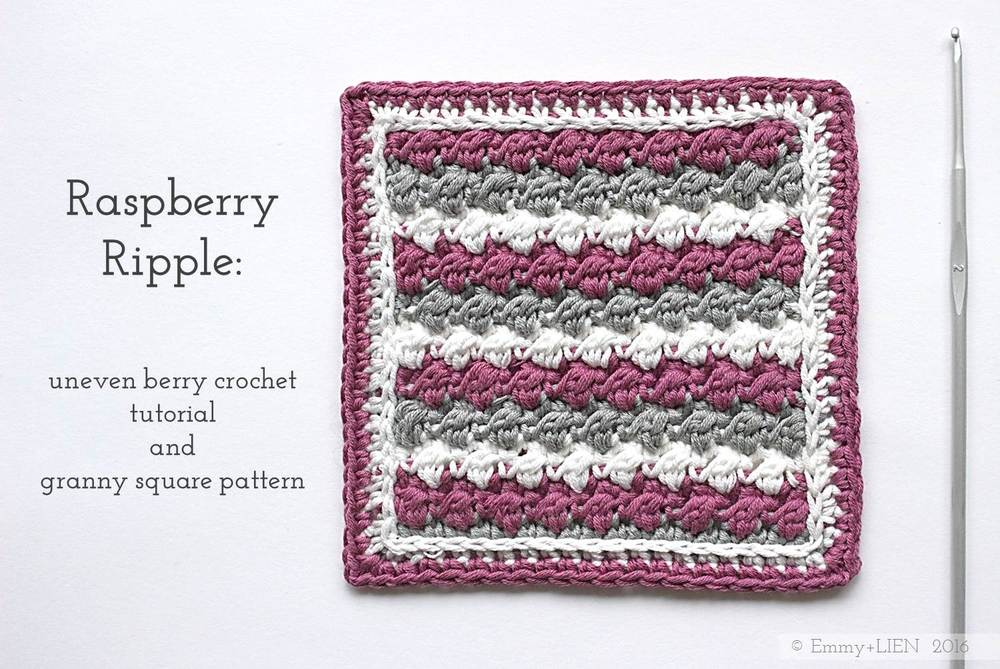 Raspberry Ripple Sampler Square