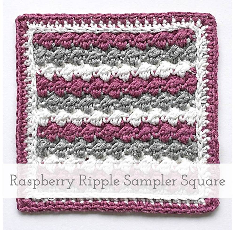 Raspberry Ripple Sampler Square | Free pattern + Tutorial