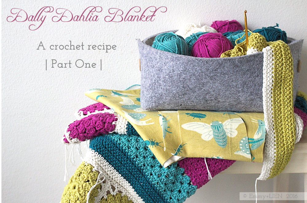 Dally Dahlia Blanket | A crochet recipe - Part One | Emmy + LIEN