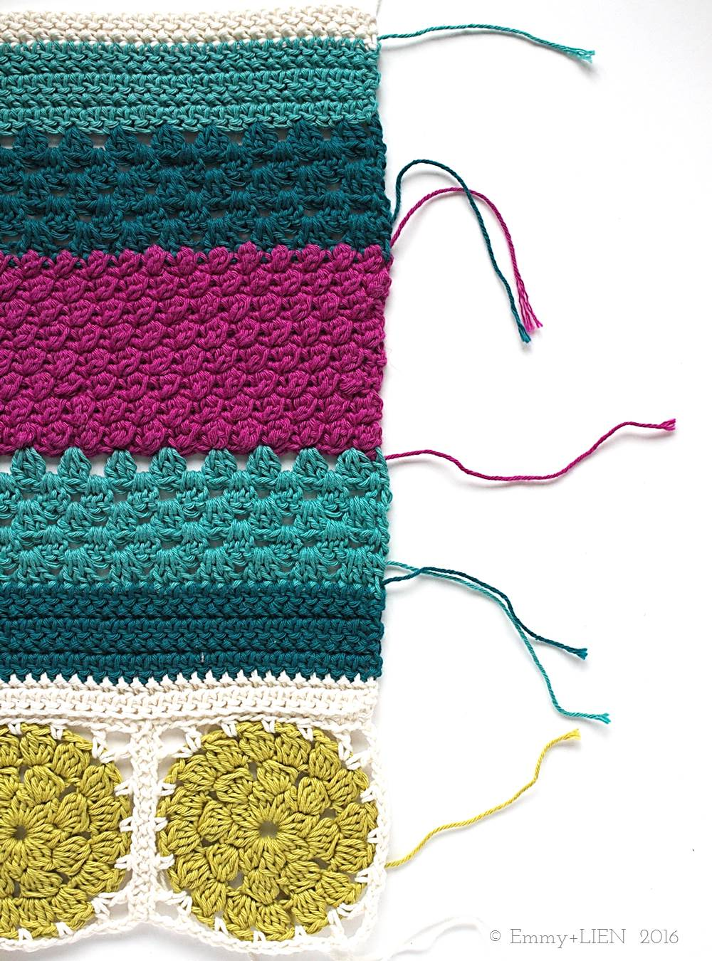 Middle section of the Dally Dahlia Blanket | Emmy + LIEN