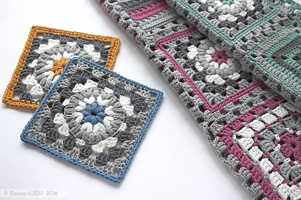 Pattern Tutorial Triple Puff Granny Square Emmy Lien