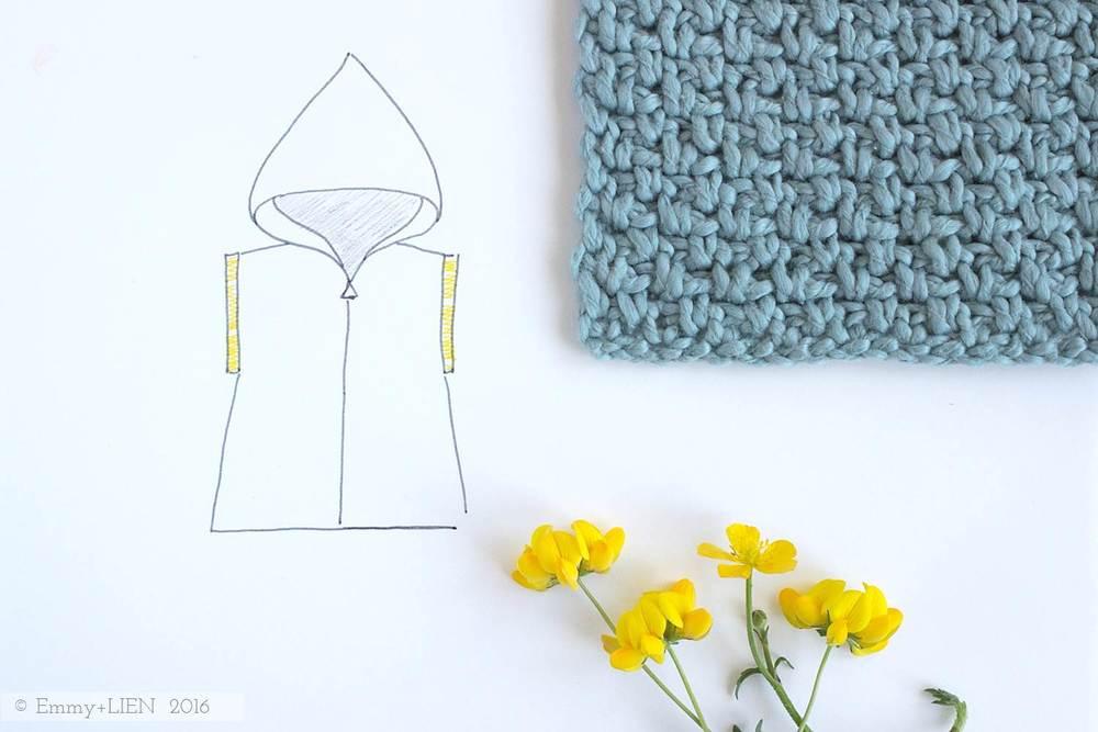 Swatch for Sea Breeze Hoodie (pattern by Eline Alcocer @ Emmy + LIEN)