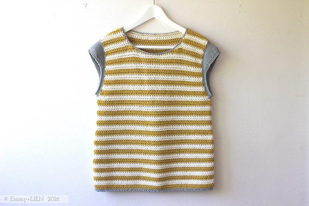 Bretonbone Top | a crochet pattern by Eline Alcocer for Crochet Now (issue 6)