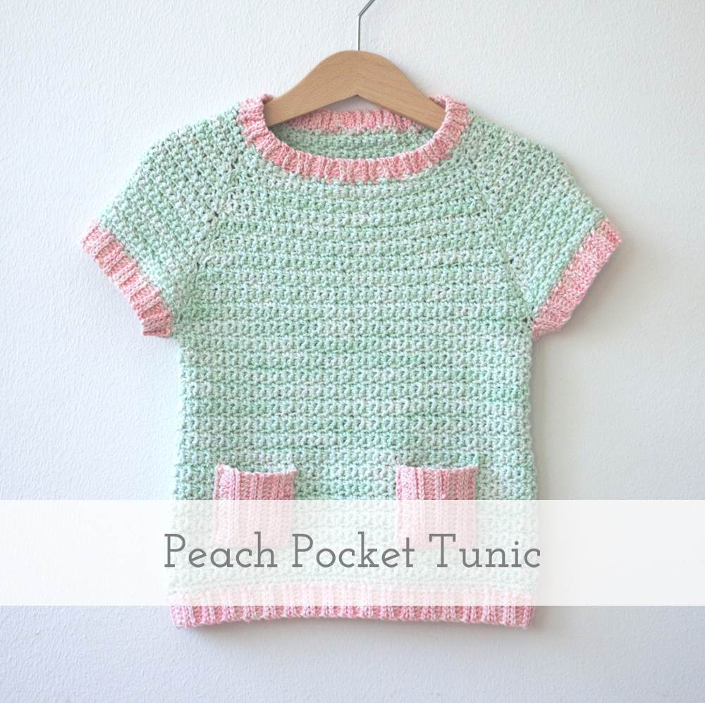 Peach Pocket Tunic | crochet pattern by Emmy + LIEN