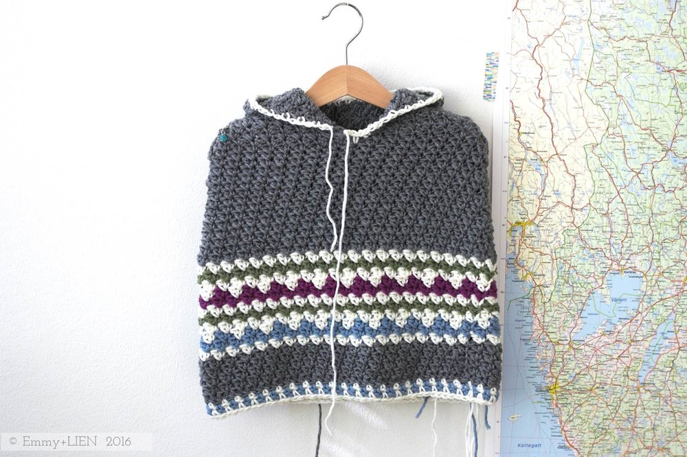 Woodland Poncho | a crochet design by Eline Alcocer for Crochet Now magazine (issue 8)