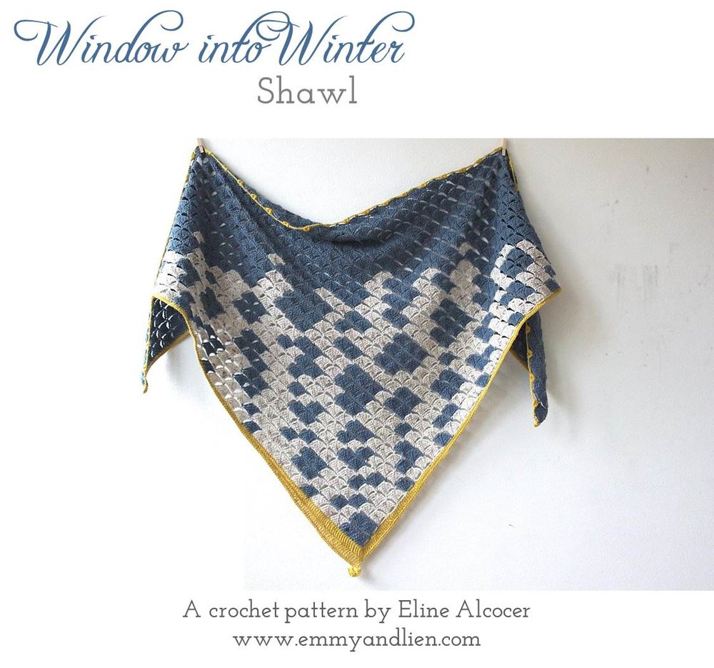 Window into Winter Shawl | a crochet pattern from Emmy +LIEN. Purchase through Ravelry