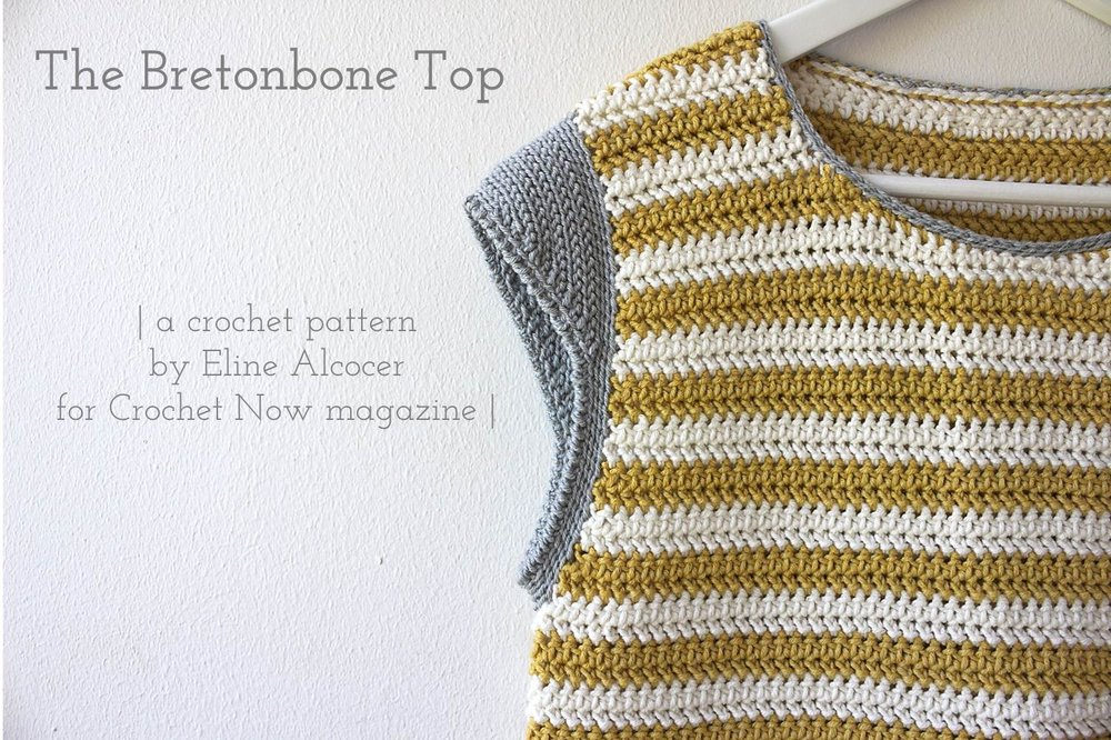 Bretonbone Top | a crochet pattern by Eline Alcocer | Now available for individual purchase from Ravelry