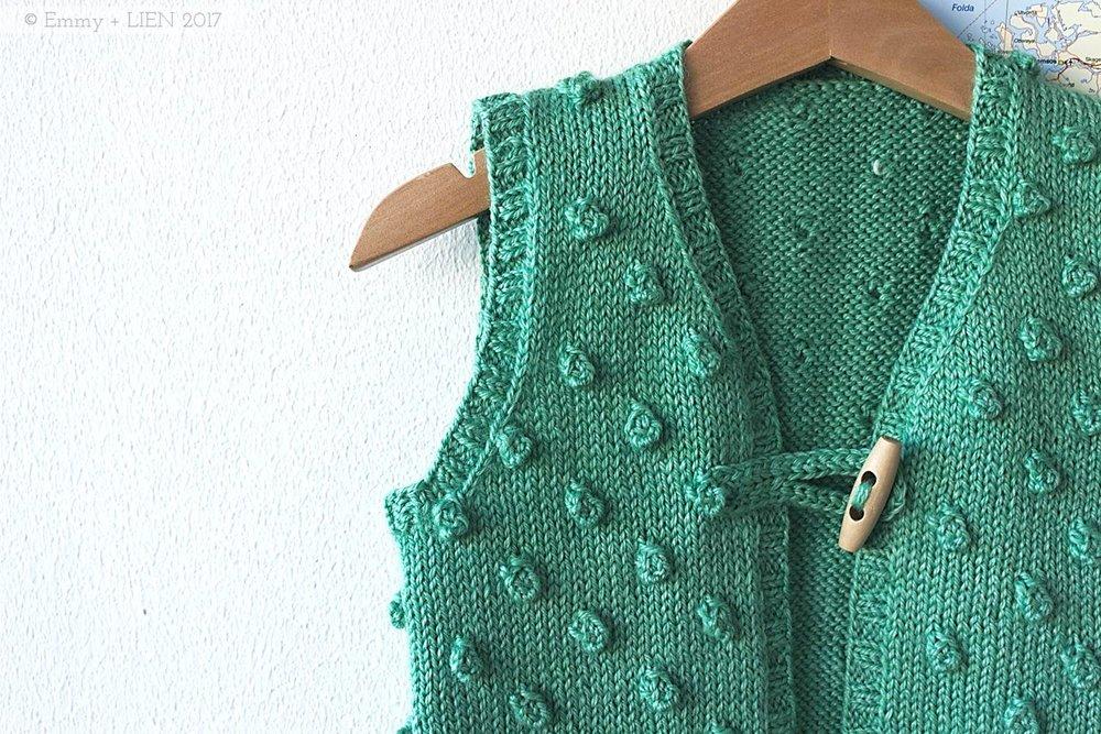 Eline's Popcorn Vest | pattern by Studio Misha & Puff