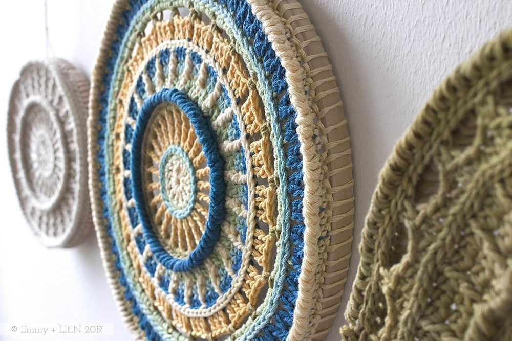 East Coast Treasures | a crochet mandala wall hanging by Eline Alcocer (first published in Crochet Now issue 15)