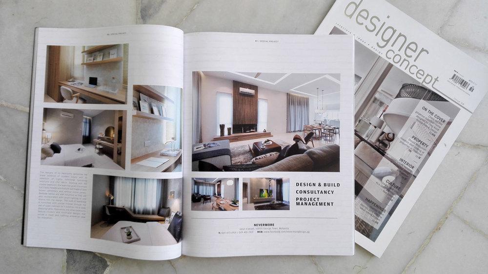 Designer concept magazine