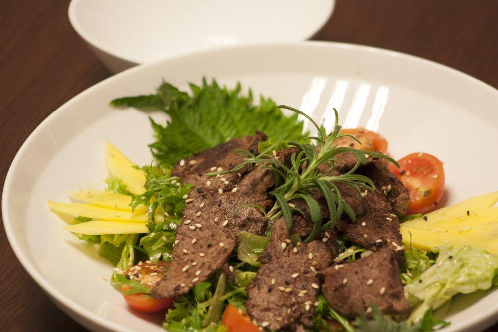 Biff-salat - kr. 120,-