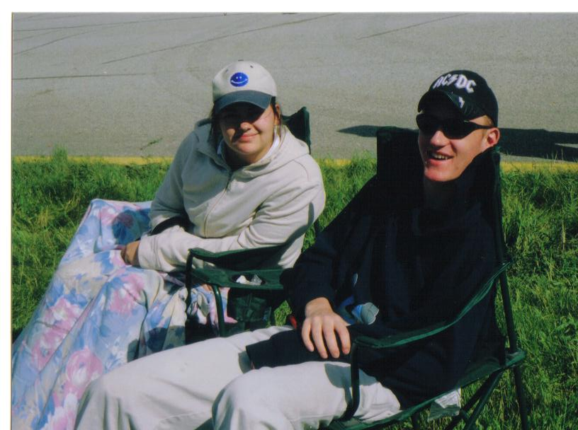 April and John at London Airshow 2004.jpg