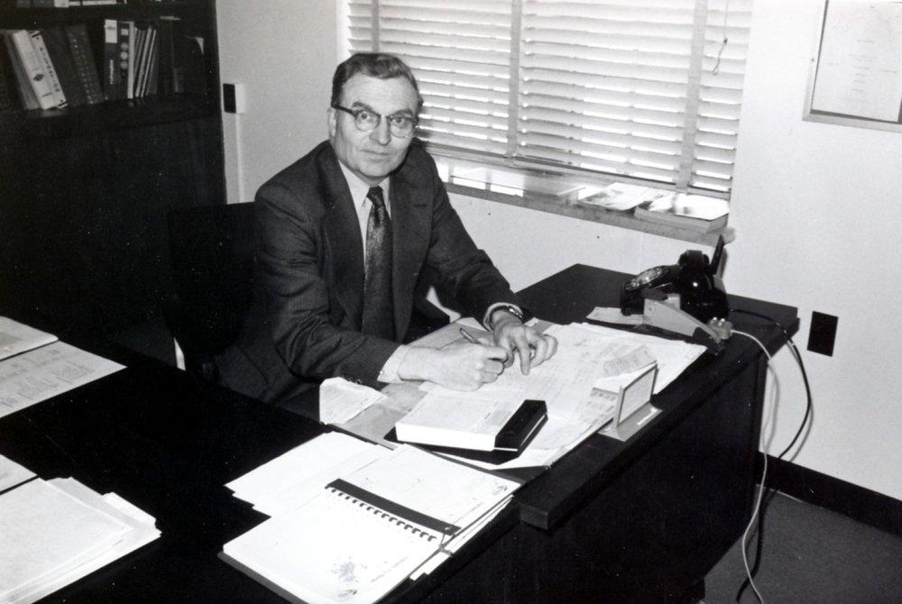 Bill  Sinkins At Office UWO May 74 .jpg