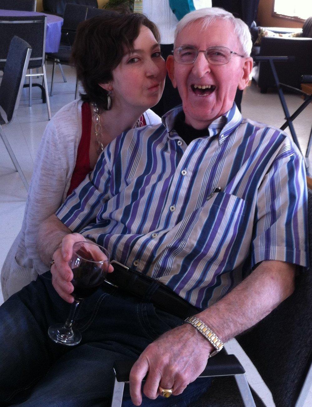 80th Dad and Bridget.JPG