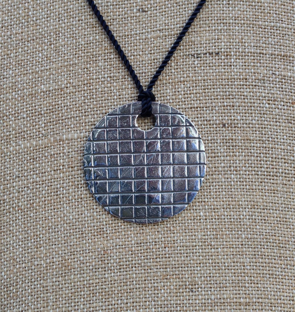 Grid Moon Pendant