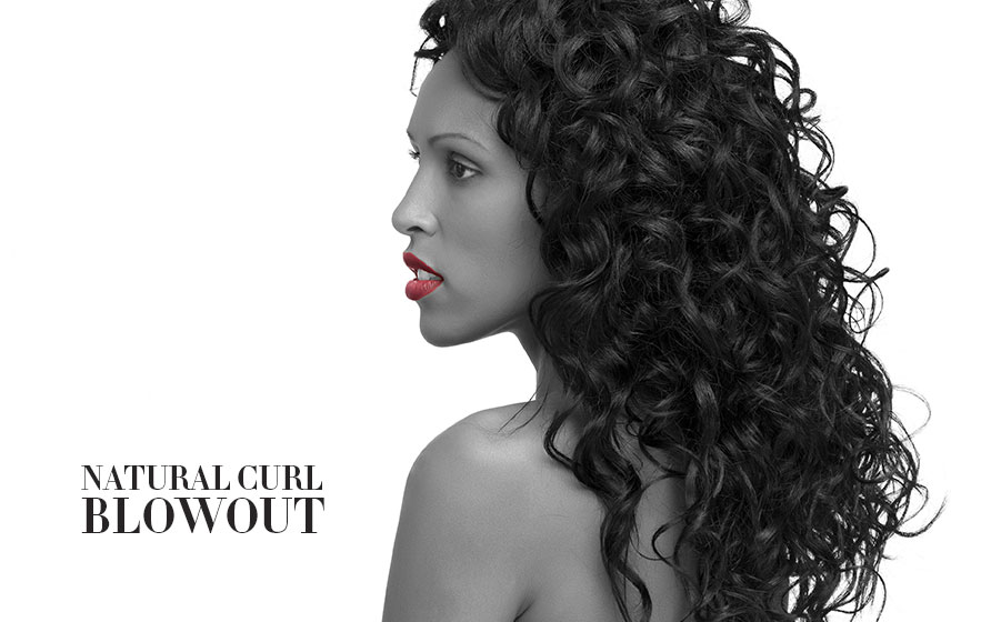 Blowout New York natural texture curl