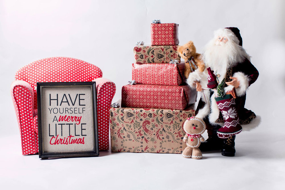 Little Coffee Stop Mini Christmas shoot set-up 2016