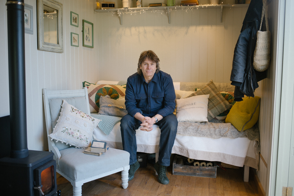 "Paul Bennett of Red Sky Shepherd's Huts:  ""It is the most personal room you ever own,"" he says. ""When you move you can take it with you.  That's a big deal."""