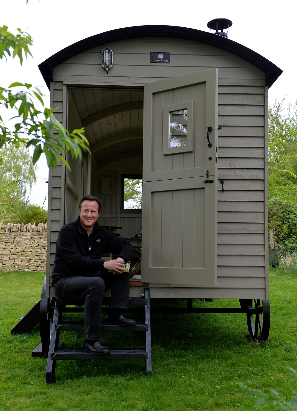 "David Cameron describes his Red Sky shepherd hut as ""particularly lovely""."