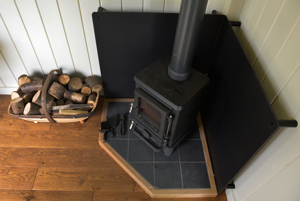 The 'Hobbit' wood-burning stove by Salamander Stoves