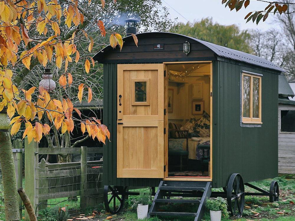 Spare bedroom shepherds hut
