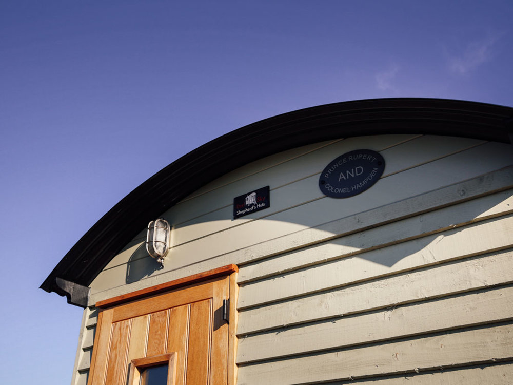 Shepherds hut used as hair salon Oxfordshire