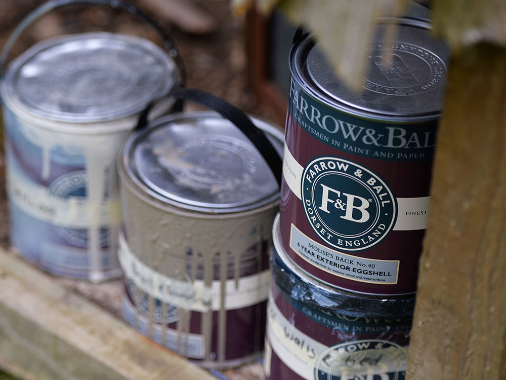 Farrow and Ball paint for shepherds hut