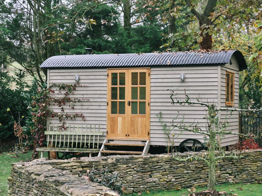 shepherds huts french doors