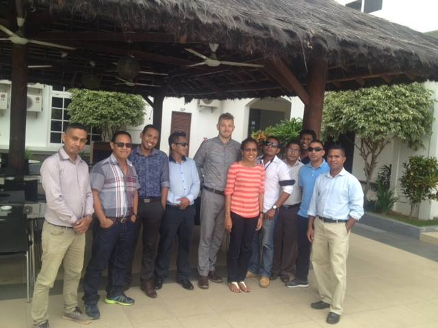 Working with environmental enforcement officials from the East Timor government in May 2016