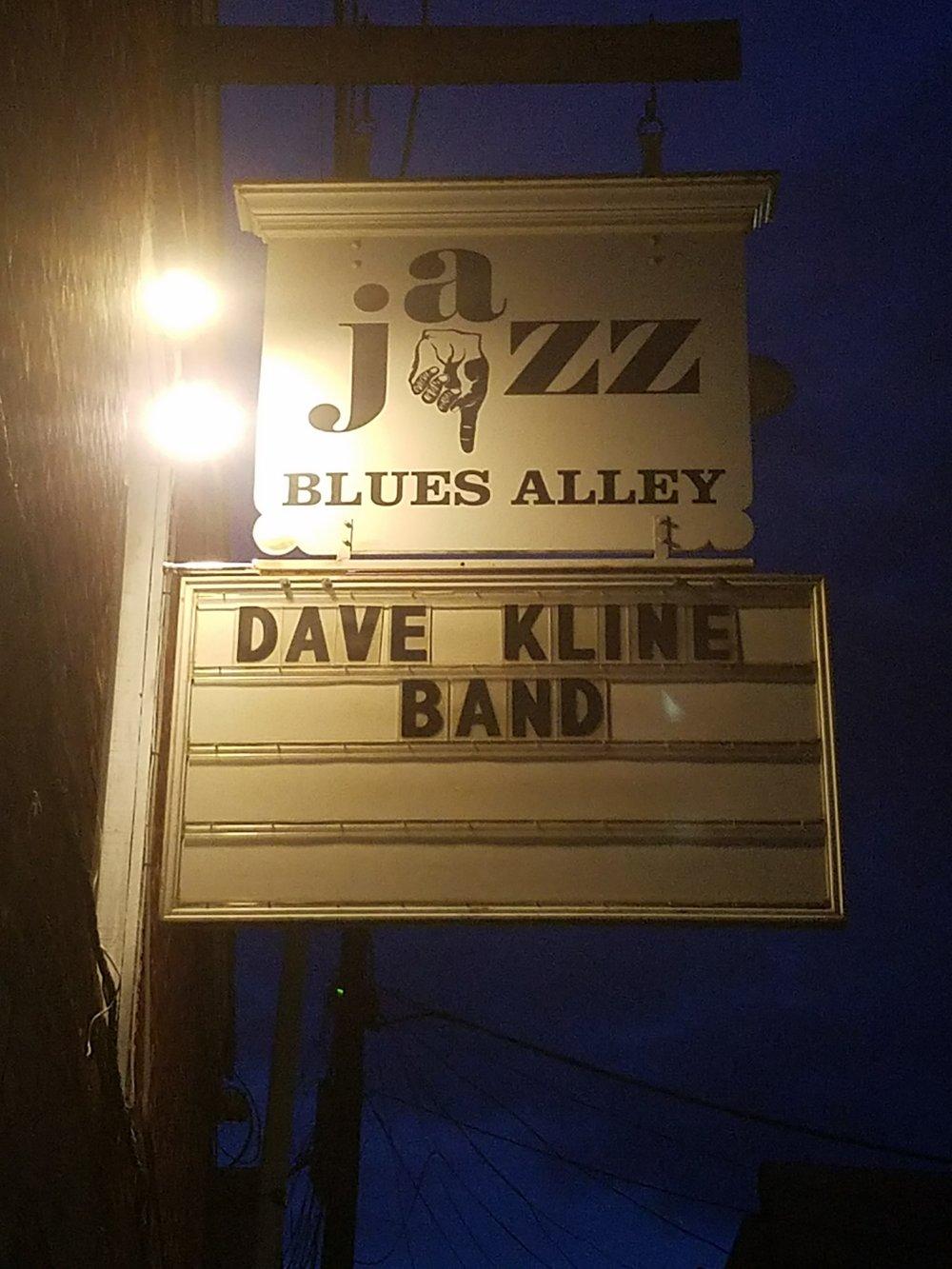 dave kline band blues alley dc jazz