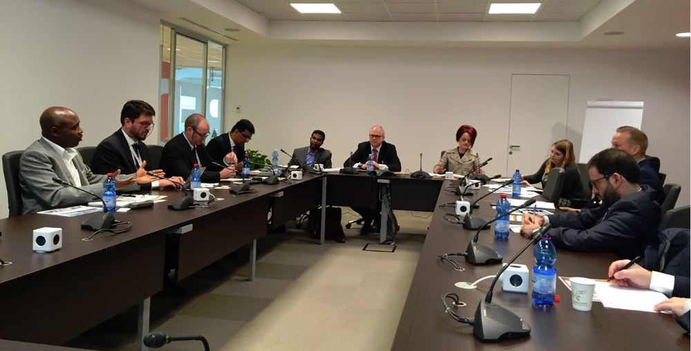 Boardroom meeting with key WFP personnel
