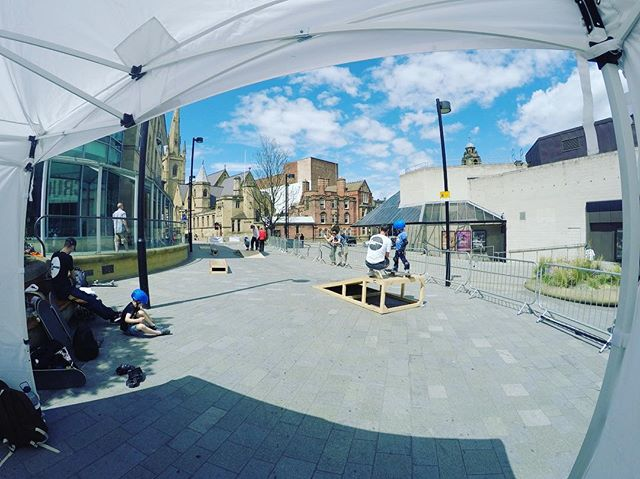 Day 2 at the Crucible in Sheffield for @theoutdoorcity cliffhanger festival! #skateboarding #sheffield
