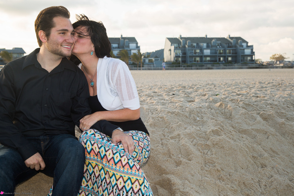Engagement Photographer on Beach New Jersey She Said Yes