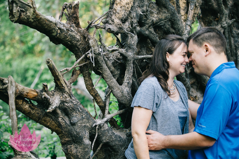 Engagement Photographer in the Woods New Jersey She Said Yes