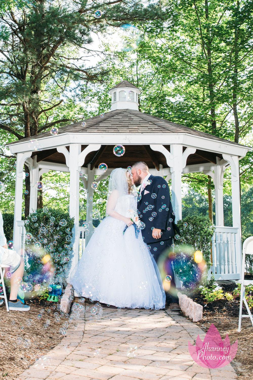 Wedding Couple in Gazebo