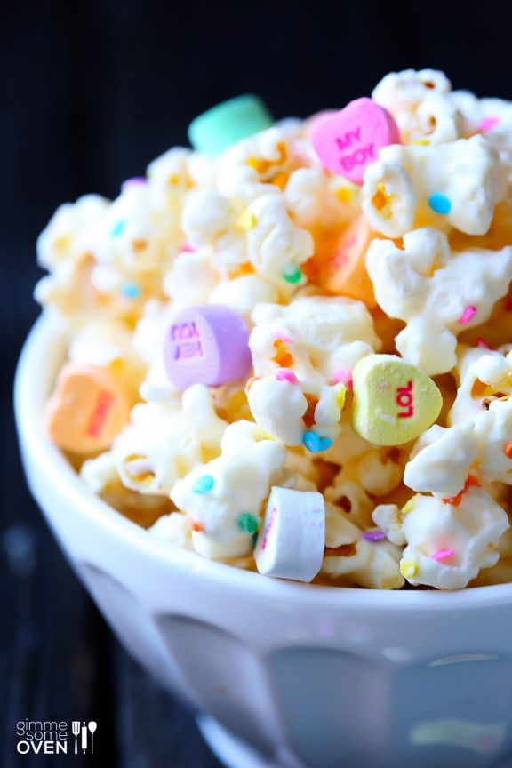 Valentine's Day Popcorn by Gimme Some Oven