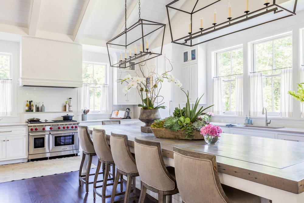 Farmhouse kitchen style from Castle Homes Nashville Symphony Show House. I can see this in the countryside of France or Austin, Texas. This casual look just makes you feel right at home. Photo by: Alyssa Rosenheck