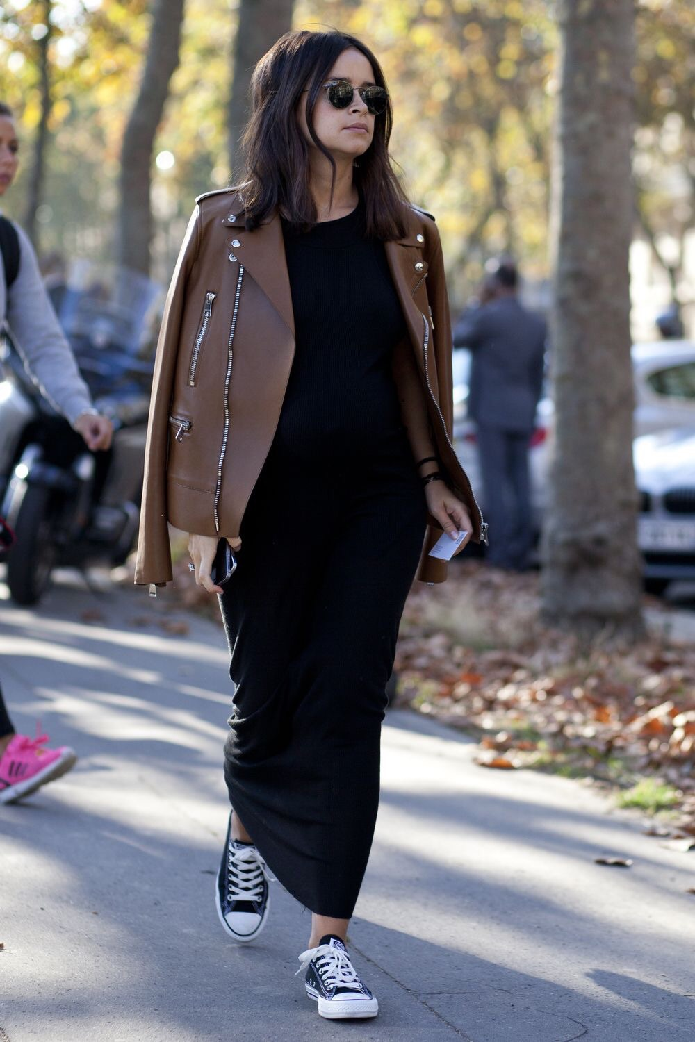 Black, leather, and Chuck Taylors! Love it!!! This is probably my preferred style everyday. (Image Source: instagram.com, @matchesfashion