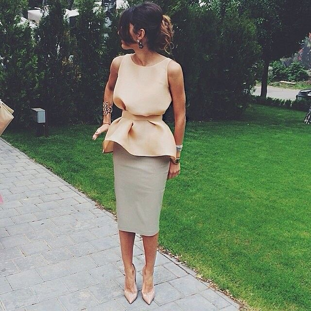 The peplum. Need I say more? (Image Source: angelsstyle.tumblr.com)