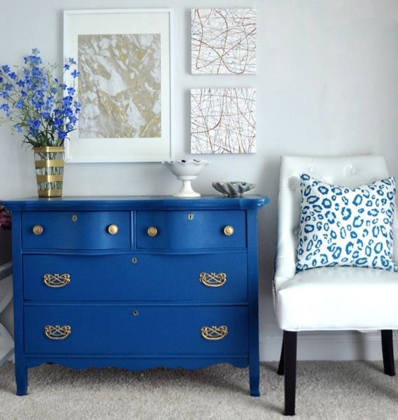 {Kate Riley of  myColortopia DIY on modernizing old furniture with bold color}