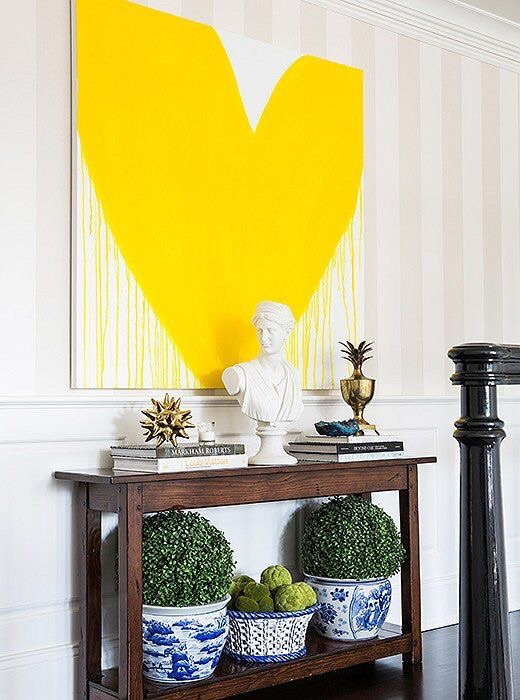 {A bold contrast in Sue De Chiara's Connecticut Fairfield County home. Collaboration with Lauren Muse of  Muse Interiors }