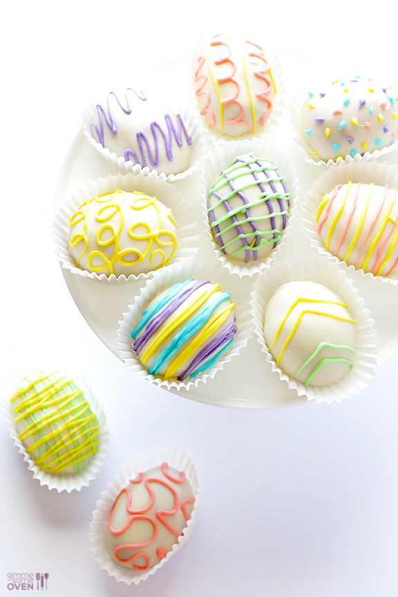 4 - Ingredient Easter Egg (Golden) Oreo Truffles by Gimme Some Oven