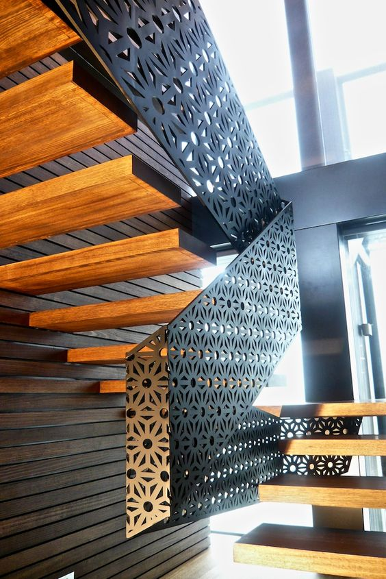 By Aludean | Fold - balustrade - mild steel - private residence Richmond Melbourne - 2009