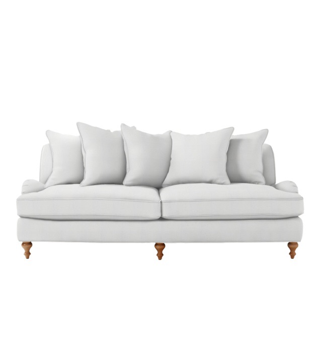 Serena & Lily Miramar Sofa in White Canvas  | $2750 (use promo DESIGNAWAY to save $50 off every $250 you spend until 4/21)
