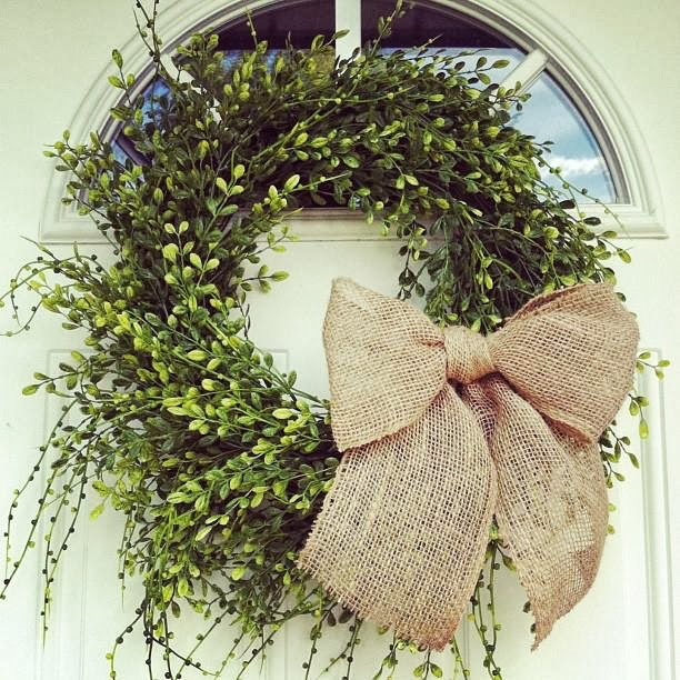 Boxwood Wreath DIY