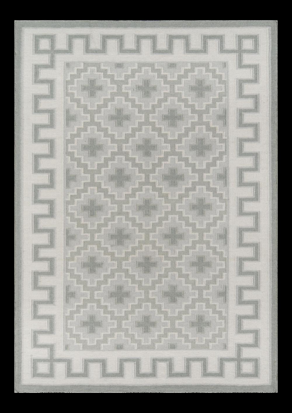 Thompson Brookline Grey Hand Woven Wool Area Rug