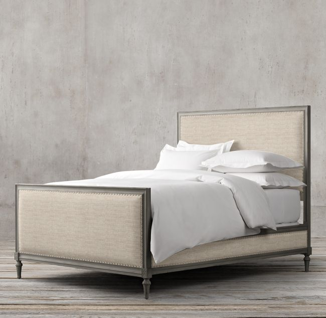 Maison Panel Fabric Bed with Footboard