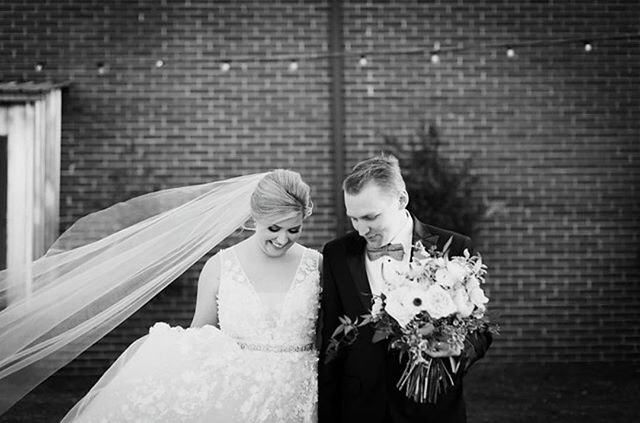 Gosh I love a good veil blowing in the wind shot.  More pics coming soon from this beautiful January wedding!  I also love black and white photos but wait till you see the light 🌟 @maryhannahharte captured.  It's downright yummy.  #almostwedweddings @alewisfilms @brushworx @thestaveroom @boldeventsatl @bhldn @almostwed