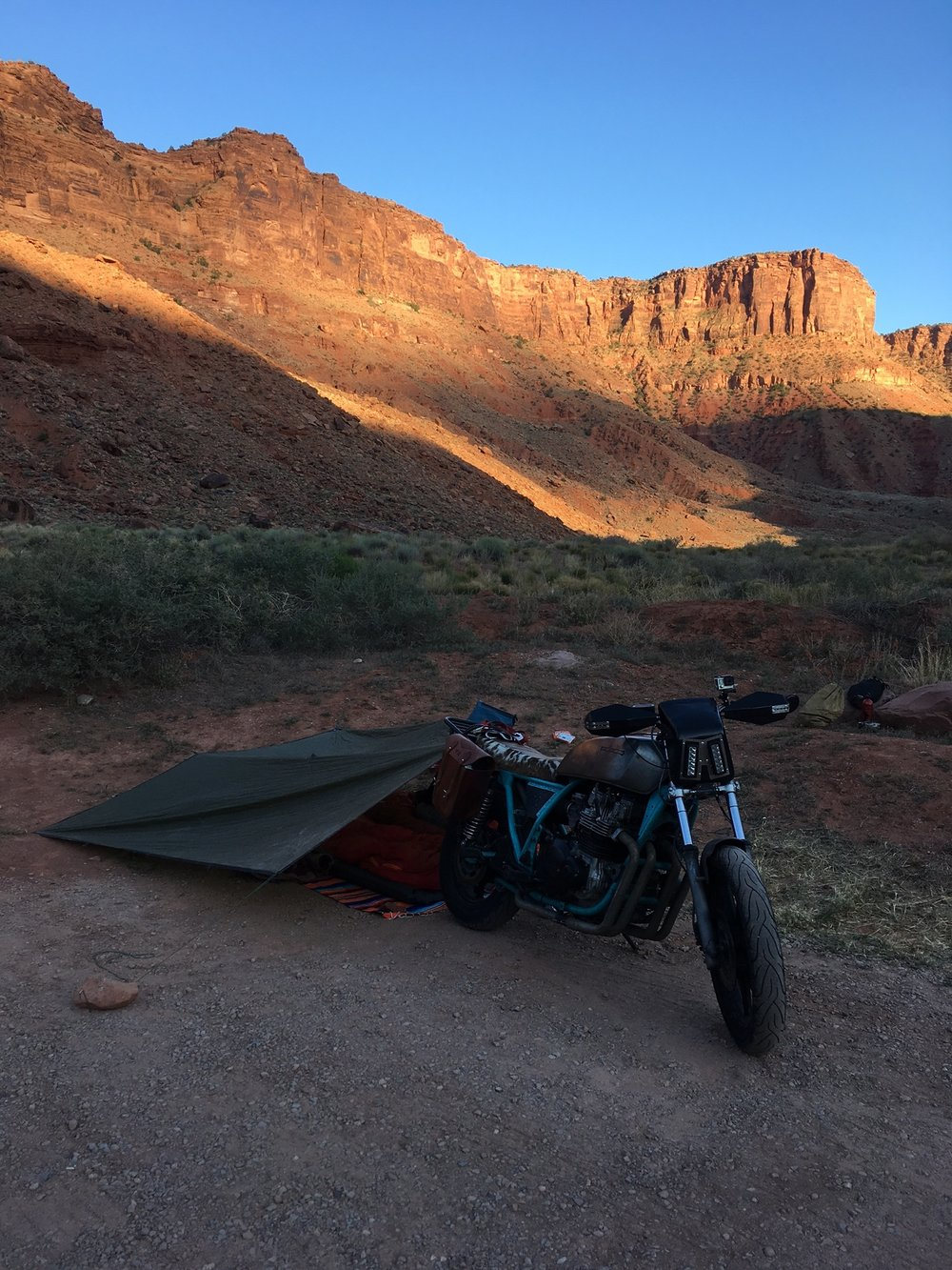 Carpark camping on the Colorado river Moab, UT